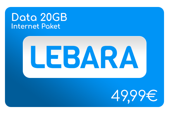 lebara data 20 gb internet aufladen online